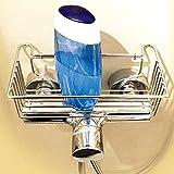 sternklar Armaturkorb Duschkorb Duschablage zum Festklemmen auf der Duscharmatur Waschbecken Waschtisch ohne Bohren Chrom